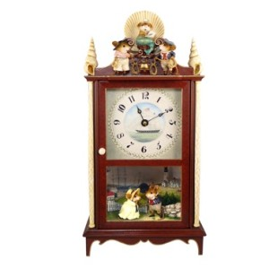 Clock, Display Case & Backdrops