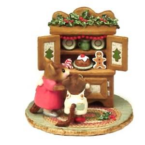 M-241 Christmas Cupboard-Brown