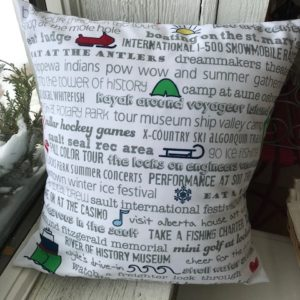 Sault Ste. Marie Bucket List Pillow