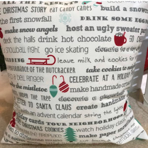 Christmas Bucket List pillow