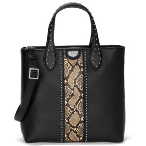Brighton; 190; Sonora Raffia Bucket Bag H73313 Wheat-Multi, Johnny Tall Convertible Tote H36694 Snake Print-Black