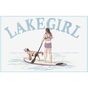 Lakegirl Paddle Board Wooden Sign