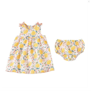 Lemon Floral Infant Dress