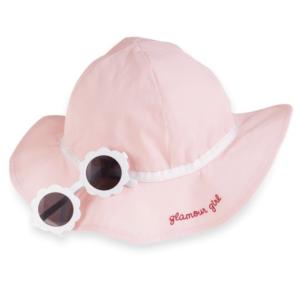 Lt Pink Sunglasses and Hat Set
