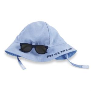Lt Blue Sunglasses and Hat Set