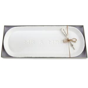Mr. and Mrs. Beaded Hostess Tray