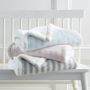 striped sherpa blanket