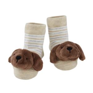 chocolate lab rattle toe socks